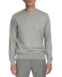 Berluti Raw Edge Crewneck Sweater Gray
