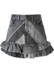 Marc By Marc Jacobs Frill Denim Skirt Black
