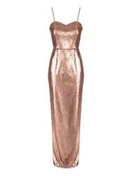 Jane Norman All Over Sequin Dress Gold