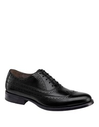 Johnston And Murphy Duvall Wingtip Calfskin Leather Oxfords Black