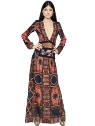 Etro Embroidered Crepe And Brocade Dress