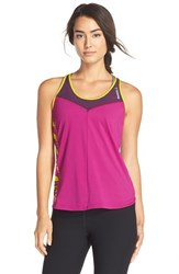 Women's Reebok 'One Series Breeze' Racerback Tank Fierce Fuchsia