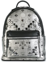 Mcm Embellished Backpack Metallic