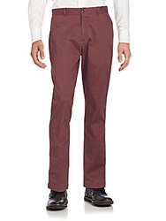 Saks Fifth Avenue Slim Fit Cotton Blend Chinos Wine