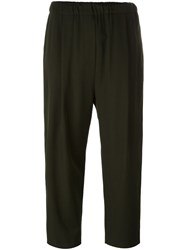 Damir Doma Cropped Trousers Green