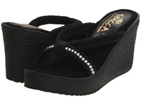 Sbicca Jewel Black Women's Wedge Shoes
