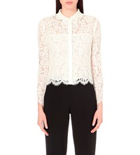 Whistles Chay Lace Blouse Cream