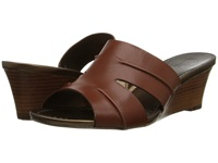 Circa Joan And David Shanna Medium Brown Leather Women's Wedge Shoes