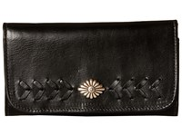 American West Mohave Canyon Trifold Wallet Black Wallet Handbags