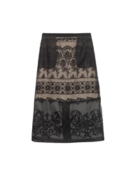 N 21 Embroidered Sheer Midi Skirt