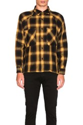 Mr. Completely Raglan Flannel In Yellow Brown Checkered And Plaid Yellow Brown Checkered And Plaid