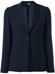 Paul Smith Ps By Single Button Blazer Blue