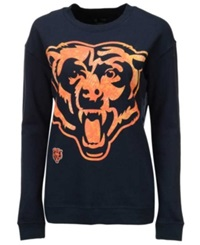 5Th And Ocean Women's Chicago Bears Athletic Sweatshirt Navy Orange