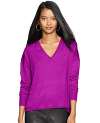Polo Ralph Lauren V Neck Sweater Berry