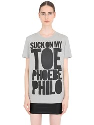 House Of Holland Phoebe Philo Cotton Jersey T Shirt