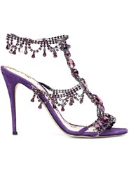Marchesa 'Grace' Sandals Pink And Purple