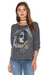 Lauren Moshi Brenna Long Sleeve Pullover Charcoal
