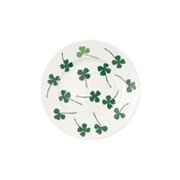 House Of Rym Let Them Eat Cake Plate Lucky Clover Green