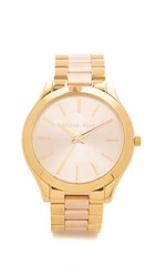 Michael Kors Slim Runway Watch Rose Gold Gold