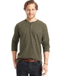G.H. Bass And Co. Long Sleeve Henley T Shirt Frost Night