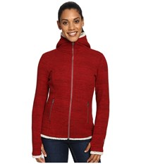 Kuhl Alska Hoodie Red Spice Women's Sweater Brown