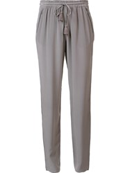 Elie Tahari Tassel Detail Trousers Grey