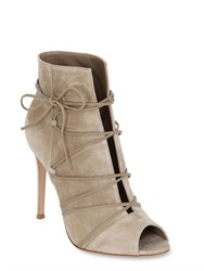 Gianvito Rossi 100Mm Suede Lace Up Boots