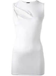 Joseph Gathered Detail Tank Top White