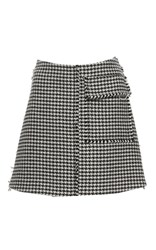 J.W.Anderson J.W. Anderson Houndstooth Mini Skirt Black