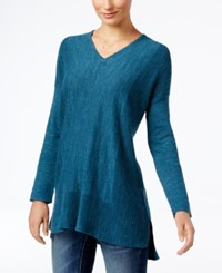 Styleandco. Style Co. V Neck Long Sleeve Tunic Only At Macy's New Rustic Teal