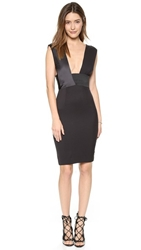 Solace London Oracle Knee Length Dress Black