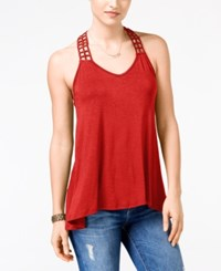 American Rag Juniors' Crocheted Back High Low Tank Top Only At Macy's Tandori Spice