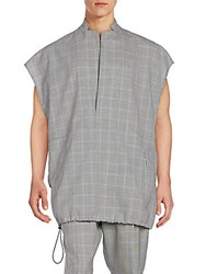 3.1 Phillip Lim Plaid Wool Top Black Ultramarine