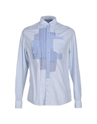 Desigual Shirts Shirts Men Sky Blue