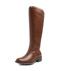 Andre Assous Saddle Up Water Resistant Leather Riding Boot Khaki