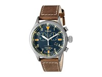 Timex Waterbury Chronograph Leather Strap Black Gunmetal Brown Watches