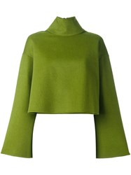 Bally Flared Sleeve Jumper Green