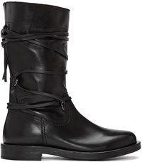 Diesel Black Gold Lace Around Boots