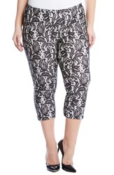 Karen Kane Plus Size Women's Karen Lane Bonded Lace Crop Pants