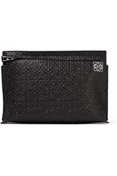 Loewe Embossed Leather Clutch Black