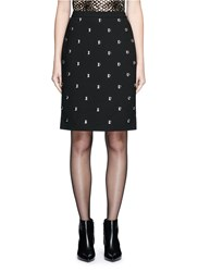 Alexander Wang Ball Stud High Waist Pencil Skirt Black