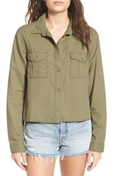 Women's Bp. Crop Woven Shirt