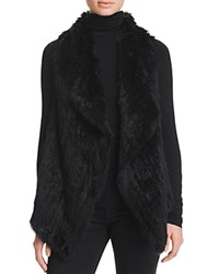 Bloomingdale's C By Fur Front Cashmere Vest Black