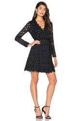 Diane Von Furstenberg Shaelyn Wrap Dress Navy