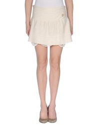 Maison Espin Mini Skirts Ivory
