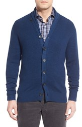Men's Peter Millar Shawl Collar Wool And Linen Button Cardigan