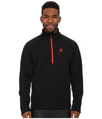 Spyder Outbound Half Zip Mid Weight Core Sweater Black Black Volcano Men's Sweater