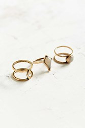 Urban Outfitters Hidden Treasures Ring Pack Gold