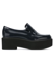 Jil Sander Navy Platform Loafers Blue