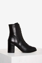 Gully Lace Up Leather Boot Black